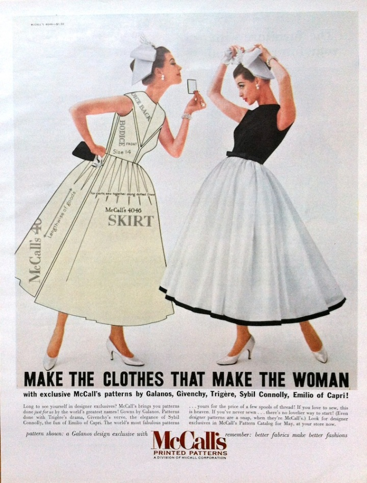 """Make the Clothes that Make the Woman - with exclusive McCall's patterns by Galanos, Givenchy, Trigère, Sybil Connolly, Emilio of Capri!"" McCall's 4046 by Galanos"