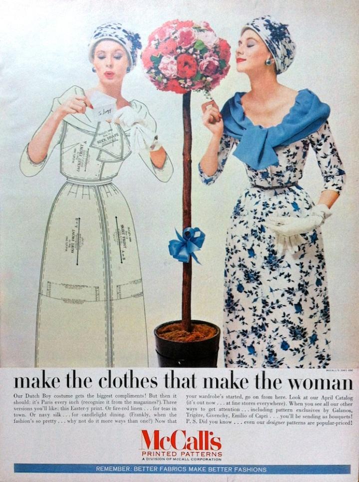 McCall's 3967 advertisement advert March 1957