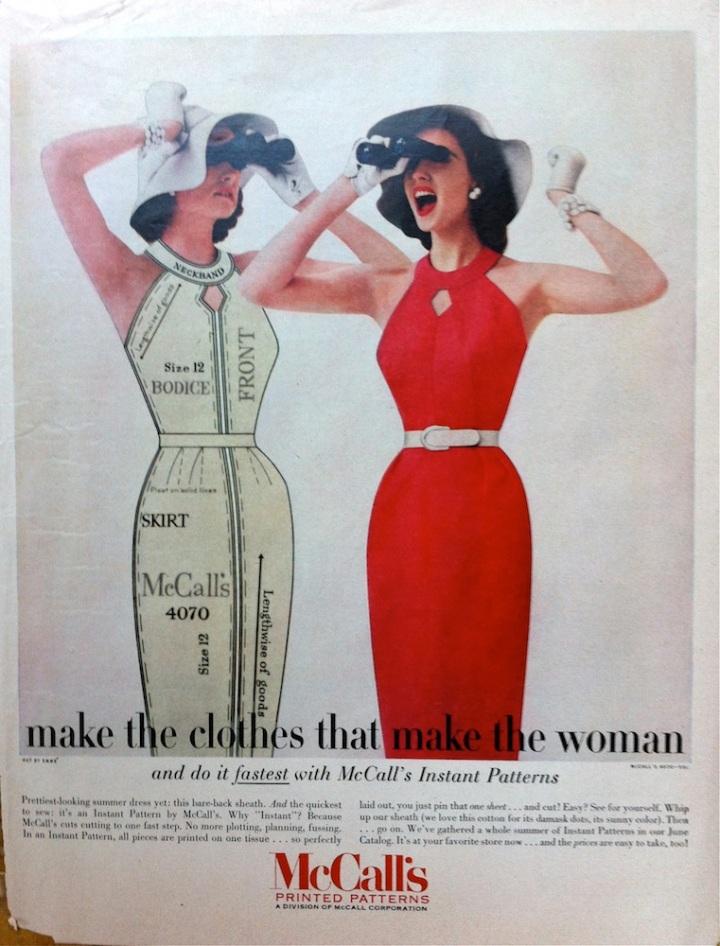 McCall's 4070 advertisement advert May 1957