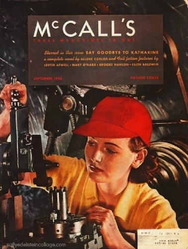 Rosie the Riveter on the cover of McCall's magazine, September 1942