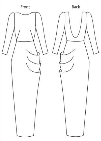 Juliana Sissons technical drawing - Scarlett schematic
