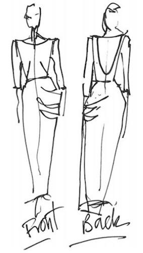 Front / Back - Scarlett sketch