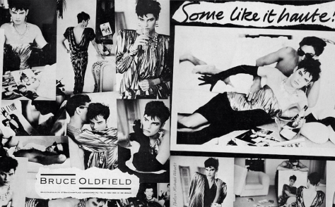 Some like it haute! Bruce Oldfield campaign photographed by Michael Roberts, 1986