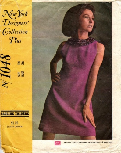 Late 1960s Pauline Trigère pattern - McCall's 1048 (1968)