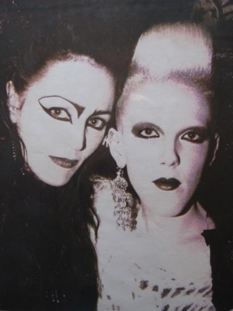 Scarlett Cannon and Juliana Sissons in 1982