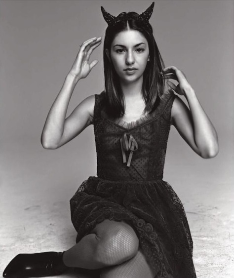 Sofia Coppola wears goth Anna Sui in Spur magazine, October 1997