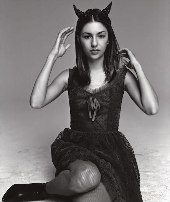Sofia Coppola wears goth Anna Sui in Spur magazine, October 1997