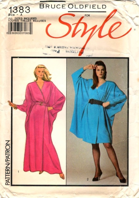 1980s Bruce Oldfield dress pattern - Style 1383 (1988)