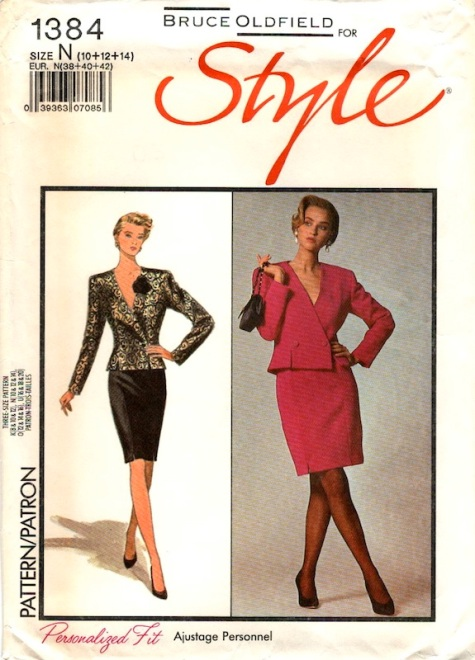 1980s Bruce Oldfield suit pattern - Style 1384