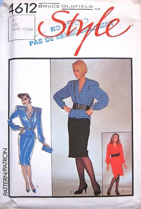 1980s Bruce Oldfield pattern - Style 4612
