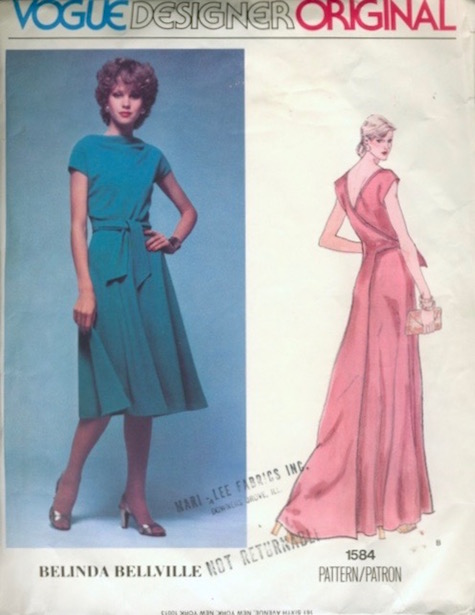 1970s Belinda Bellville dress pattern - Vogue 1584