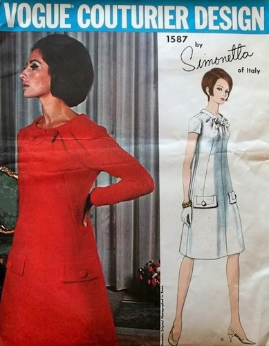 1960s Simonetta pattern with model Alberta Tiburzi - Vogue 1587
