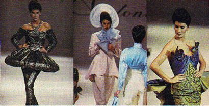 Runway photos from Antony Price's Spring 1989 collection