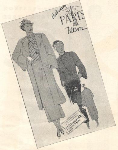 1930s Paris Pattern by Schiaparelli