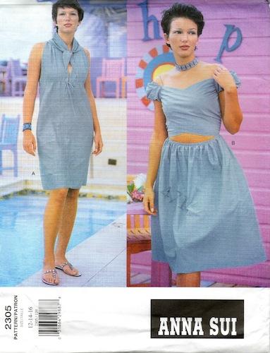 1990s Anna Sui dress pattern - Vogue 2305