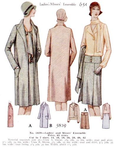 1920s Schiaparelli pattern - McCall 5839