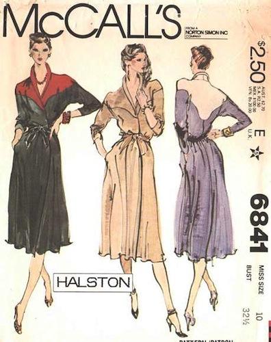 1970s Halston dress pattern - McCall 6841