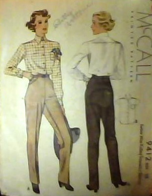 1930s riding pants pattern - McCall 9412