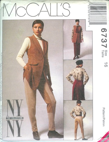 1990s NY/NY riding pattern - McCall's 6737