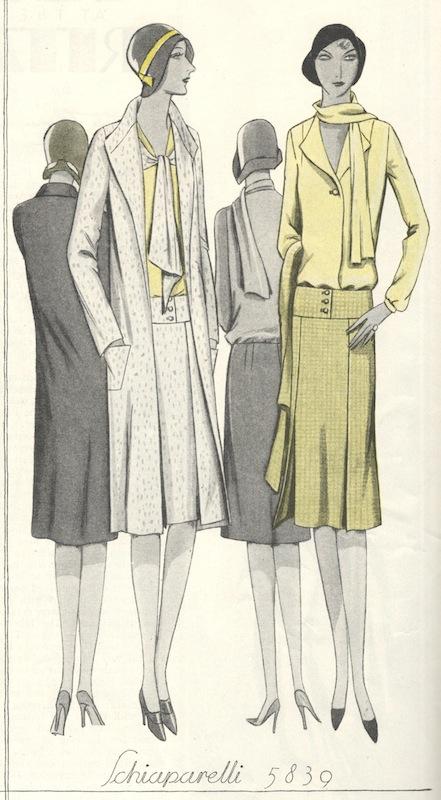 1920s Schiaparelli sewing pattern - McCall 5839