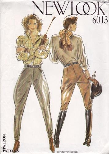 1980s jodhpurs sewing pattern - New Look 6013
