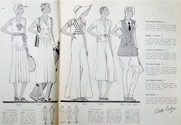 1930s Pictorial Review 5554 riding jacket and 5553 breeches, Pictorial Review Fashion Book, Summer 1931