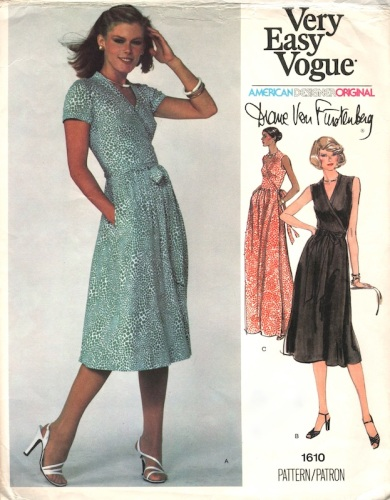 1970s Diane Von Furstenberg wrap dress pattern - Vogue 1610