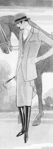 1927 Vogue illustration of a Busvine sidesaddle habit by Guillermo Bolin