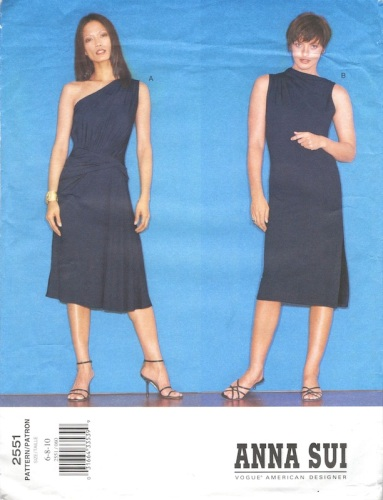 Anna Sui jersey dress pattern - Vogue 2551