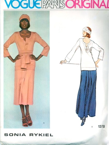 Billie Blair models a 1970s Sonia Rykiel pattern - Vogue 1378