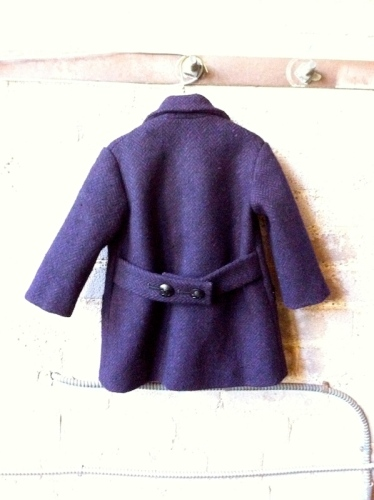 1930s child's coat - back view