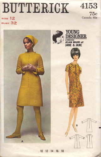 1960s Jean Muir dress pattern - Butterick 4153