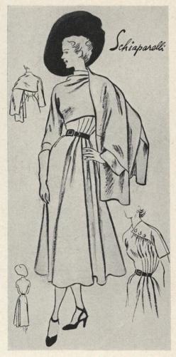 Vogue 1068 by Schiaparelli. Sketch by David