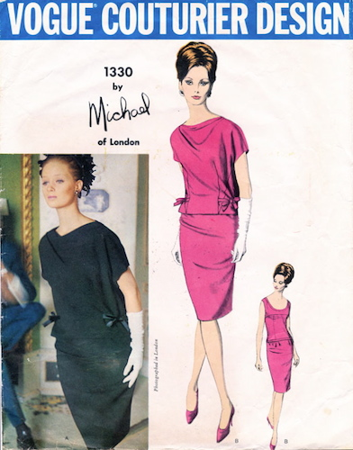 1960s Michael of London dress pattern - Vogue 1330
