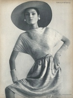 Benedetta Barzini models Vogue pattern 6634, 1965