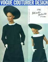 Celia Hammond models Vogue Couturier Design 1795 by Belinda Bellville