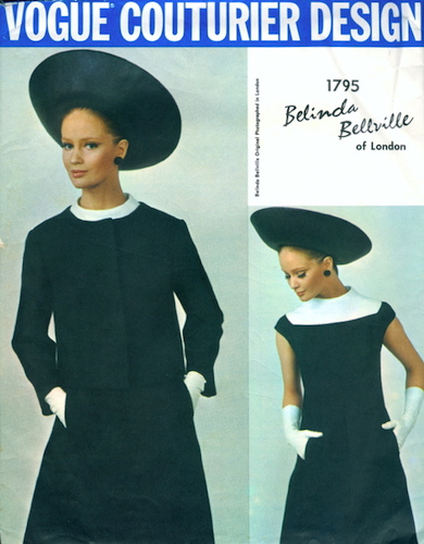 1960s Belinda Bellville dress and jacket pattern - Vogue 1795