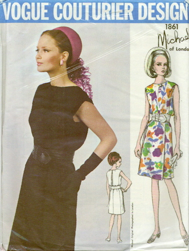 1960s Michael dress pattern - Vogue 1861 (1967)