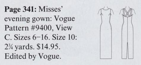 Vogue 9400 pattern - In This Issue, Vogue, November 1997