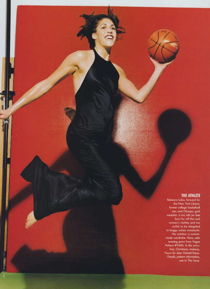 Vogue Nov 1997 Rebecca Lobo photographed by Michel Comte