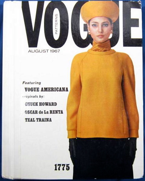 Benedetta Barzini in Vogue 1775 by Chester Weinberg - Vogue Patterns catalogue August 1967