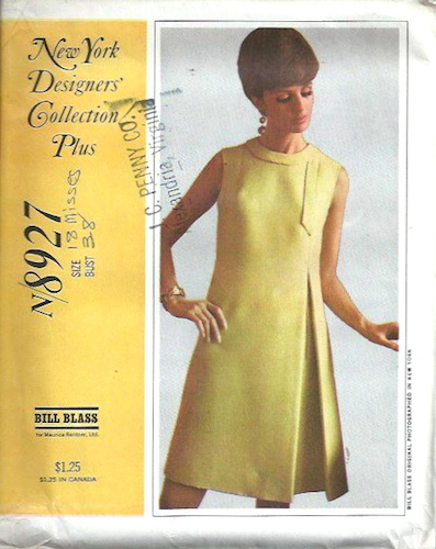 1960s Bill Blass dress pattern - McCall's 8927