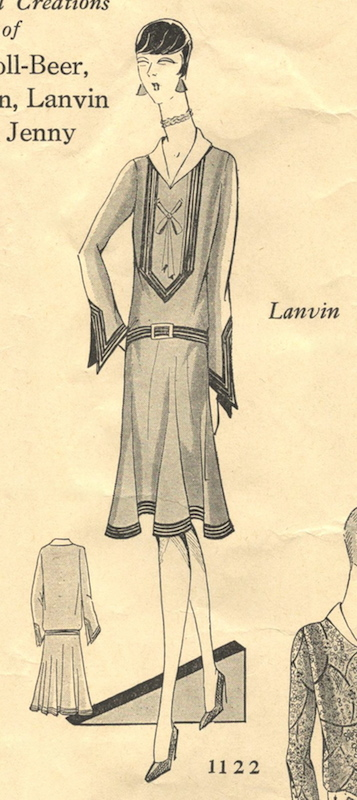 1920s Lanvin dress pattern - Paris Pattern 1122