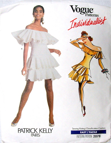1980s Patrick Kelly dress pattern - Vogue 2078