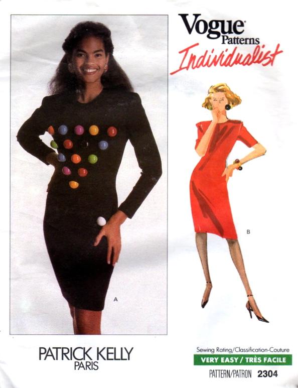 1980s Patrick Kelly dress pattern - Vogue 2304