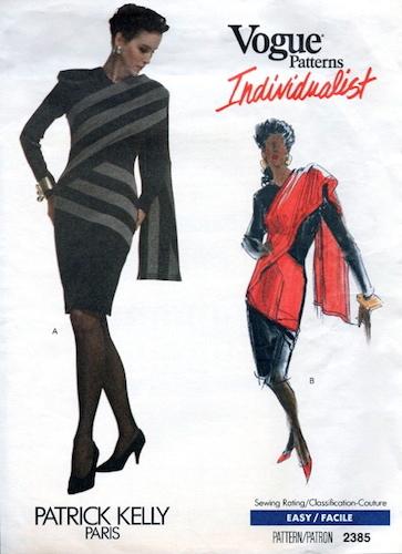 1980s Patrick Kelly dress pattern - Vogue 2385
