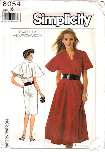 1980s Cathy Hardwick dress pattern featuring Uma Thurman - Simplicity 8054