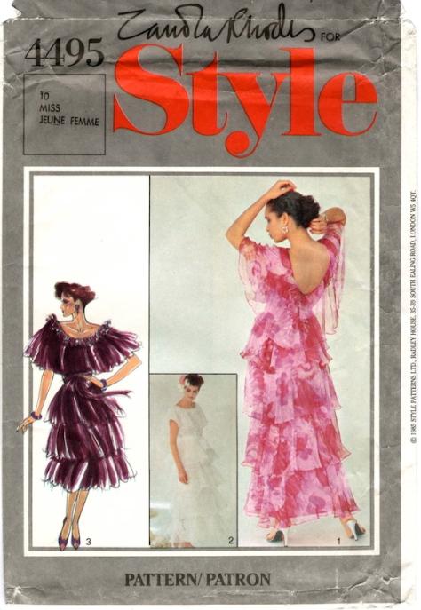 1980s Zandra Rhodes dress pattern - Style 4495
