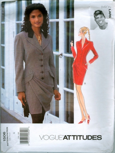 1990s Byron Lars dress pattern - Vogue 1506