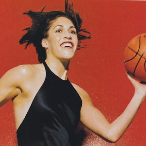Basketball player Rebecca Lobo photographed by Michel Comte, 1997